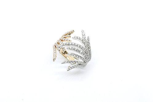 2 Tone Diamond Ring