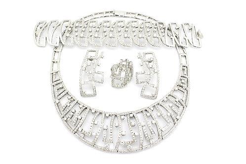 White Gold and Diamond Designer Full Set