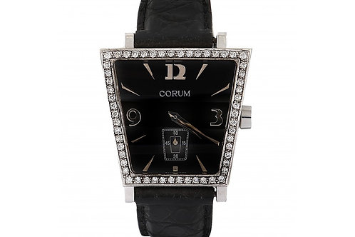 Corum Trapeze Black Dial 38mm Steel & Diamonds