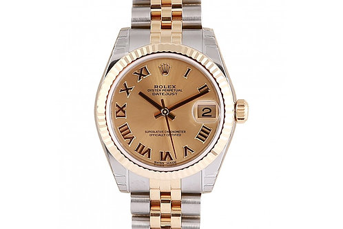 Rolex Datejust Champagne Roman Dial 31mm Steel & Yellow Gold