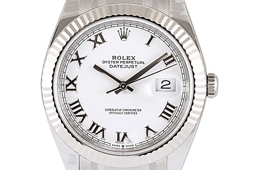 Rolex Datejust 2 White Roman Numeral Dial 41mm Steel