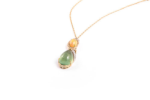 Diamonds, Opal and Pendant