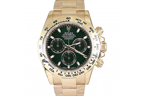 Rolex Daytona Chronograph Green Dial 40mm Yellow Gold