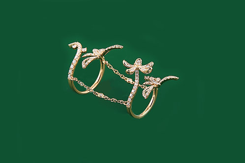Double Ring with Diamonds