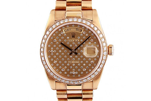 Rolex Day-Date President Diamond Dial 36mm Yellow Gold
