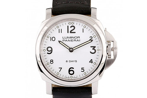 Panerai Luminor Base 8 Days Acciaio White Dial 44mm Steel