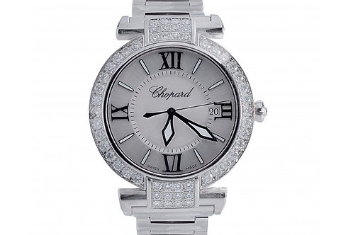 Chopard Imperiale Silver-Mother of Pearl Dial 36mm Steel & Diamonds