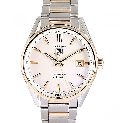 Tag Heuer Carrera Calibre 5 Silver Dial 39mm Steel & Rose Gold
