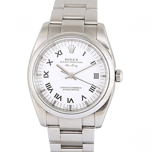 Rolex Oyster Perpetual Air King Chronometer White Dial 34mm Steel
