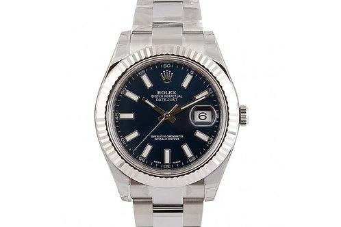 Rolex Datejust II Blue Dial 41mm Steel & White Gold