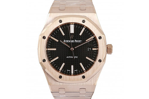 Audemars Piguet Royal Oak Black Dial 41mm Rose Gold