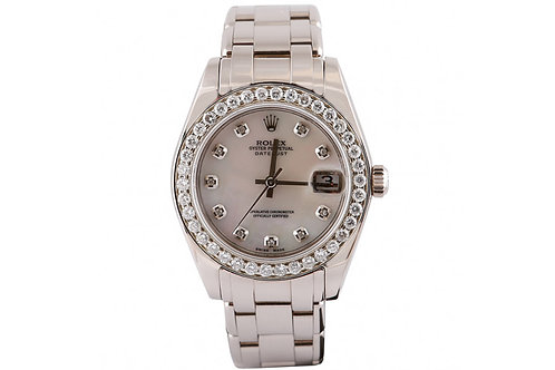 Rolex Pearl Master Mother of Pearl 34mm White Gold & Diamonds