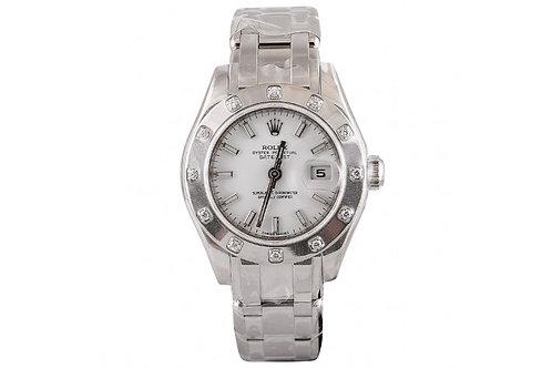 Rolex Pearlmaster White Dial 29mm White Gold & Diamonds