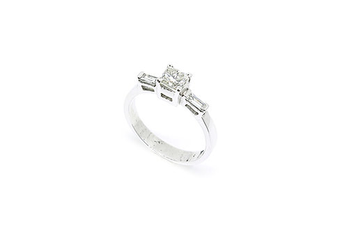 Princess and Baguette Cut Diamond Ring