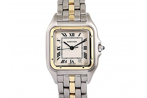 Cartier Panthere Date Dial 27mm Steel & Yellow Gold