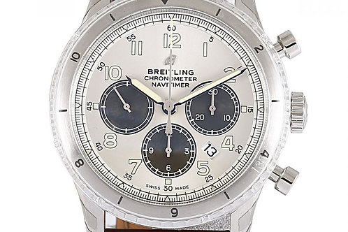 Breitling Navitimer Aviator 8 Limited Edition Chronograph Silver Dial 43mm