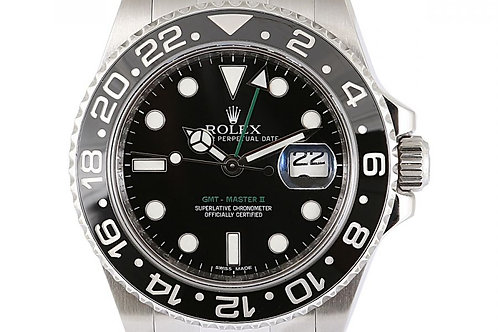 Rolex GMT Master 2 Black Dial 40mm Steel