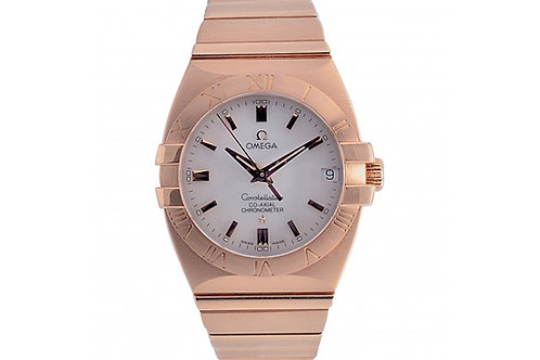 Omega Constellation Double Eagle Co-Axial Chronometer White Mother of Pearl Dial