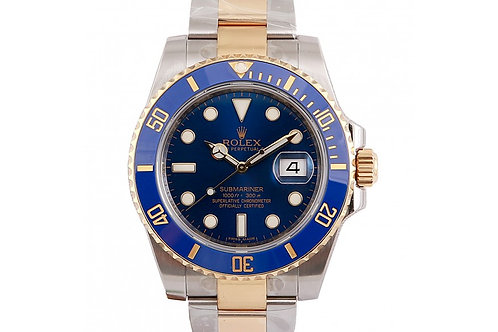 Rolex Submariner Blue Dial 40mm Steel & Yellow Gold