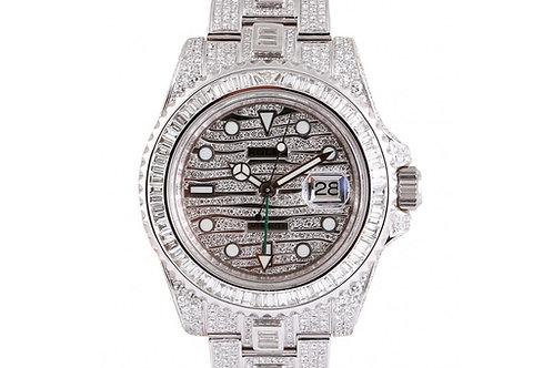 Rolex GMT-Master II Diamond Dial 40mm Steel & Diamonds