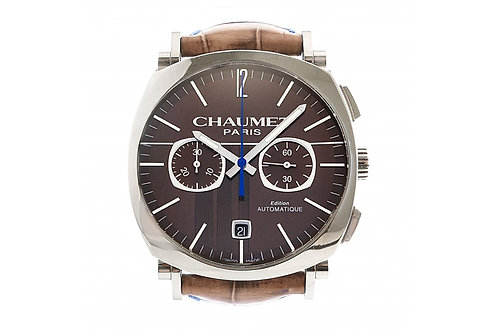 Chaumet Dandy Chronograph Brown Dial 40mm Steel