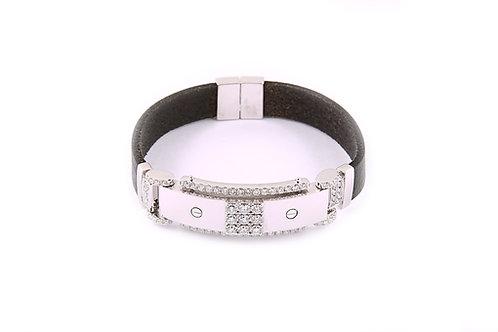 Leather Diamond Bracelet