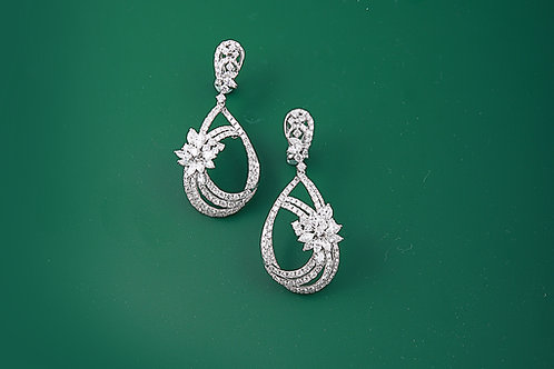 Drop Design Diamond Earrings