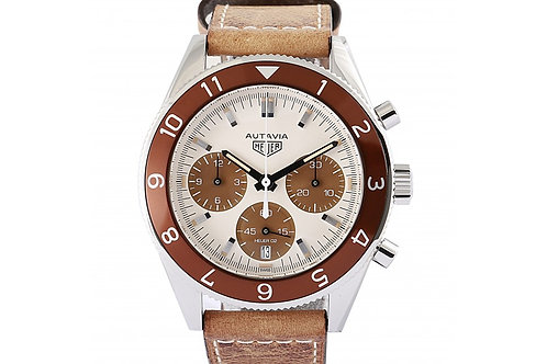 Tag Heuer Autavia Limited Edition Chronograph Cream Dial 42mm Steel