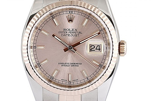 Rolex Datejust Pink Dial 36mm Steel & Rose Gold