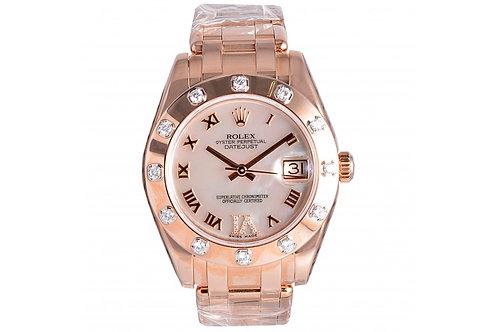 Rolex Pearlmaster Datejust Roman Diamond Dial 34mm Rose Gold & Diamonds