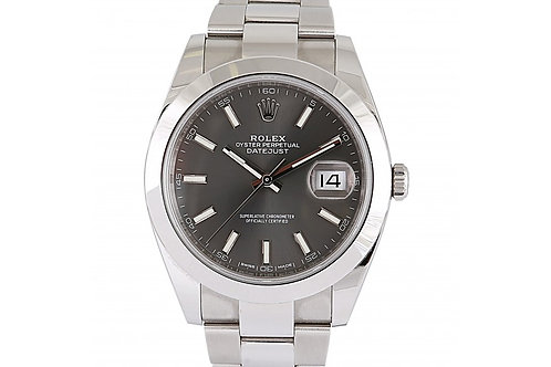 Rolex Datejust Dark Rhodium Dial 41mm Steel
