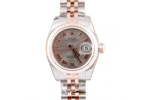 Rolex Datejust Grey Roman Dial 26mm Steel & Rose Gold