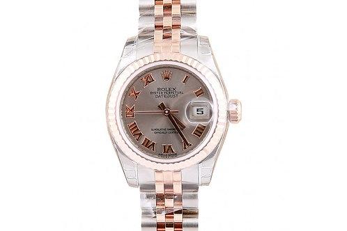 Rolex Datejust Grey Roman Dial 26mm Steel & Rose Gold