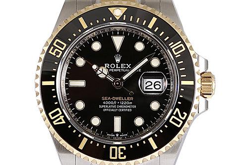 Rolex Sea Dweller Black Dial Steel & Yellow Gold 43mm