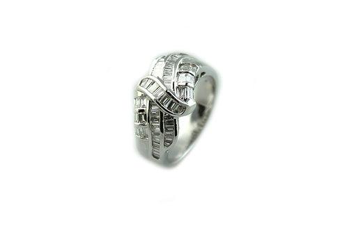 Illusion Baguette Diamond Ring