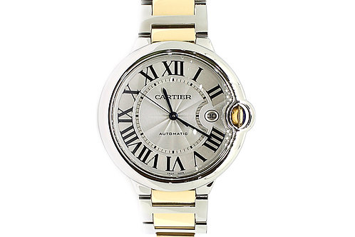 Cartier Ballon Bleu with Date Steel & Yellow Gold 42mm