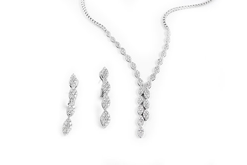 Diamond Necklace and Earring