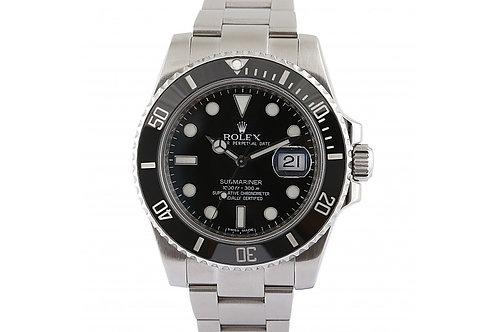 Rolex Submariner Date Black Dial 40mm Steel