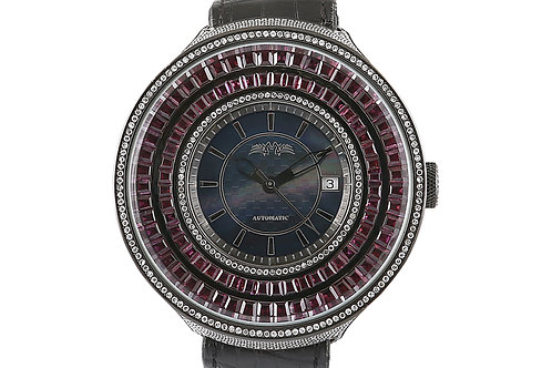 Montreux Black Steel with Diamonds and Garnet