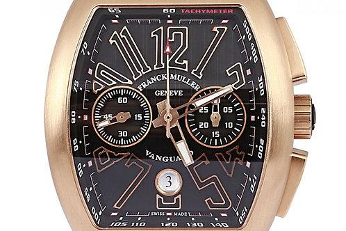 Franck Muller Vanguard Black Dial 53 x 44mm Rose Gold