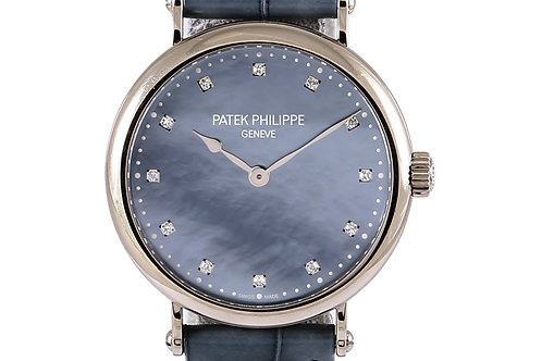 Patek Philippe Calatrava New York Edition White Gold Case with Leather Strap