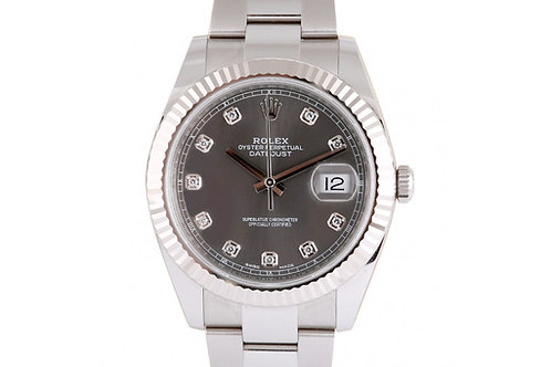 Rolex Datejust 41 Grey Diamond Dial Steel & White Gold