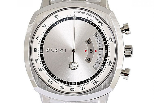 Gucci Grip Chronograph Silver Dial 40mm Steel