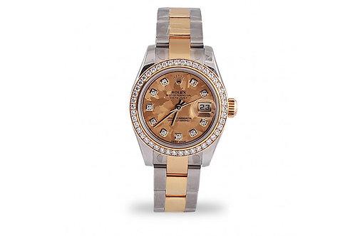 Rolex Lady-Datejust 26 Steel, Yellow Gold & Diamonds