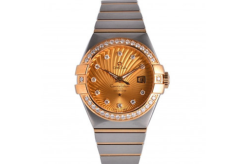 Omega Constellation Champagne With Diamond Dial 31mm Steel, Yellow Gold & Diamon