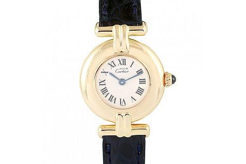 Cartier Vermeil Must De Trinity White Dial 24mm Yellow Gold