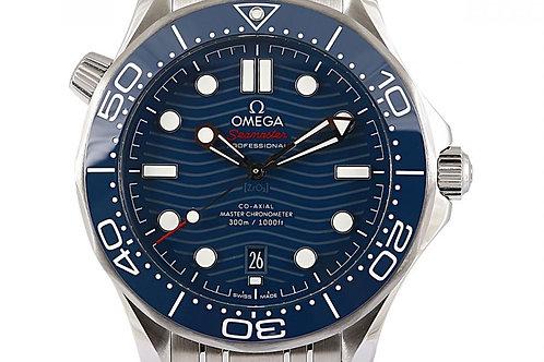 Omega Seamaster Diver 300M Chronometer Blue Dial 42mm Steel