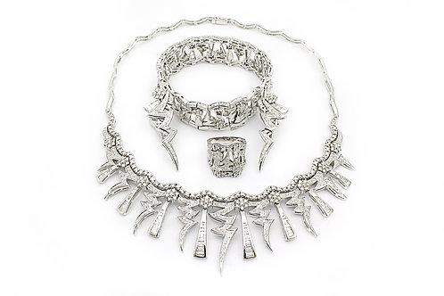 Designer White Gold and Diamond Full Set