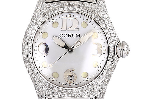 Corum Bubble Mother of Pearl Dial Steel with Aftermarket Diamonds 45mm