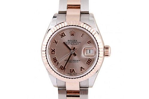 Rolex Datejust Pink Roman Dial 28mm Steel & Rose Gold